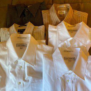 6 pcs Paul Fredricks long sleeve dress shirts